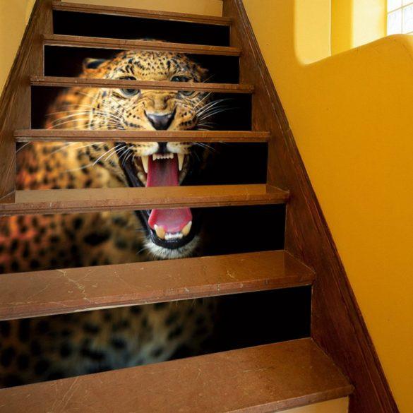 Leopárd, 3D lépcsőmatrica