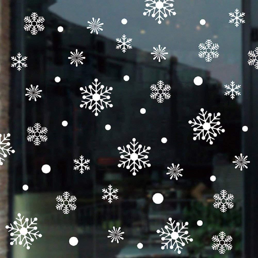 Fehér hópelyhek, karácsonyi dekorációs matrica ablakra vagy kirakatra