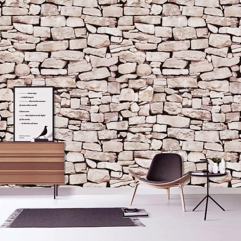 Kőfal mintás öntapadós tapéta