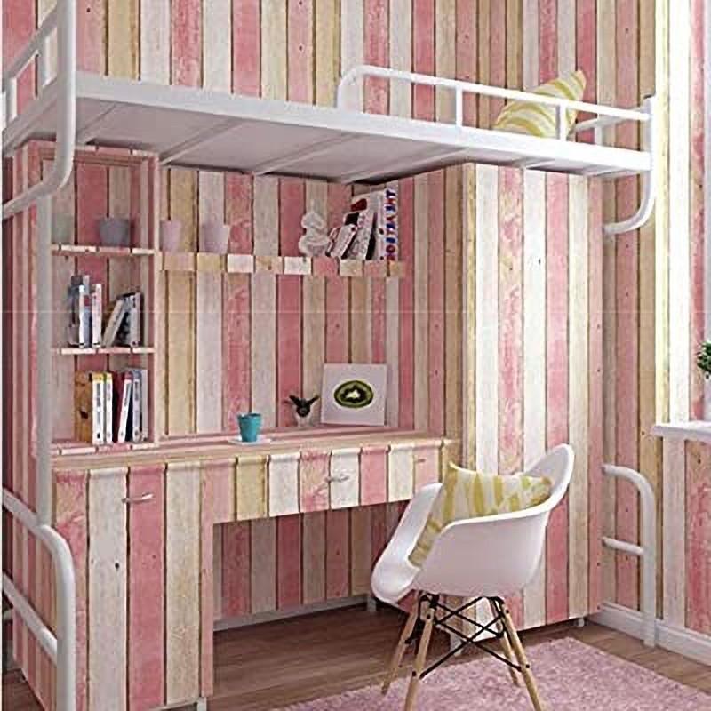Vörös árnyalatú famintás öntapadós tapéta