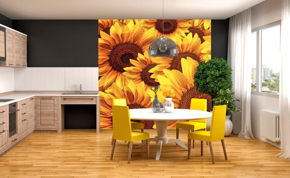 Napraforgó virágok, poszter tapéta 225*250 cm
