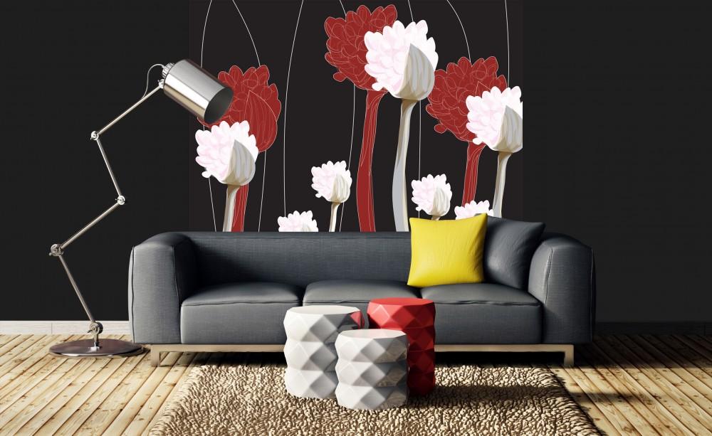 Festett növények, poszter tapéta 225*250 cm