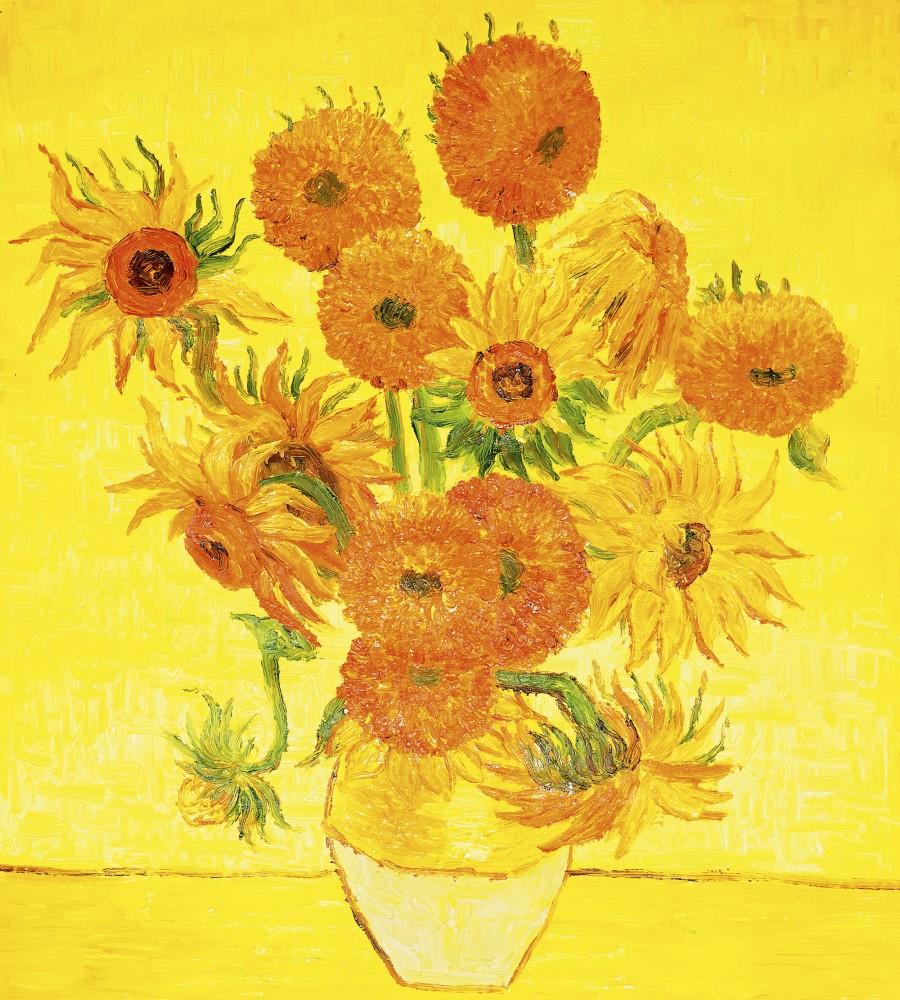 Virág festmény, poszter tapéta 225*250 cm