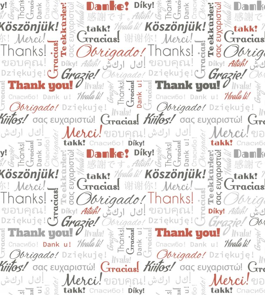 Köszönjük - a világ nyelvein, poszter tapéta 225*250 cm