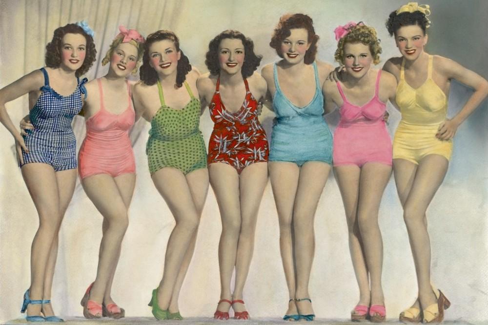 Vintage nők, poszter tapéta 375*250 cm